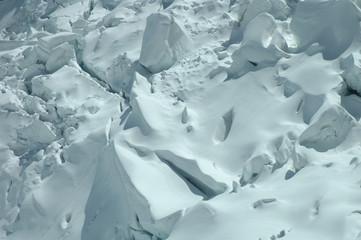 Glacier nearby Jungfraujoch pass in Alps in Switzerland