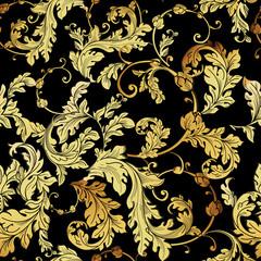 Luxury vintage golden seamless background