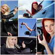 Frau halten Autoschlüssel