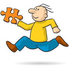 person with puzzle