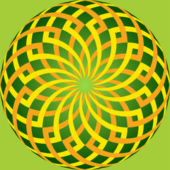 colored intersecting curves on circle