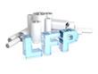 Leinwanddruck Bild - LFP (LiFePO4) - Lithium iron phosphate accumulator battery
