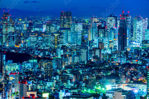 Papiers peints Tokyo Tokyo skyline, Japan.