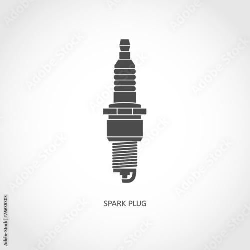 Car spark plug icon - 76639303