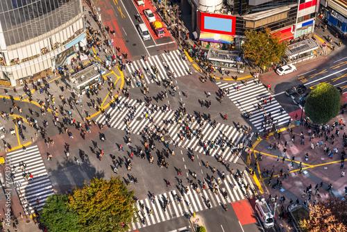 Fotobehang Tokyo Shibuya Crossing, Tokyo, Japan.