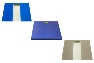 bathroom scales isolated on white background