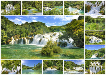 parc national de krka Croatie montage collage