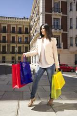 cute woman shopping