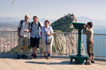 Tourist on the Rock of Gibraltar