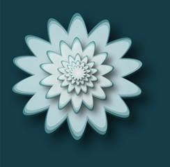 lotus flower shape with dark blue background