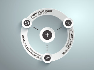 infografía para negocios con valores e iconos. Vector