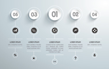infografía para negocios con valores, niveles e iconos. Vector