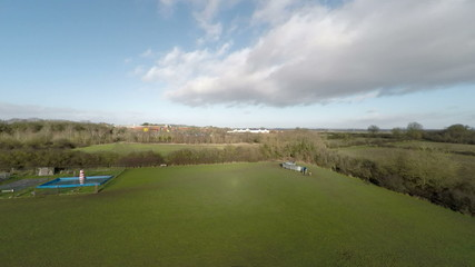 HD Aerial shot ascending looking at the countryside