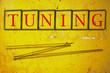 Постер, плакат: tuning written on a wall