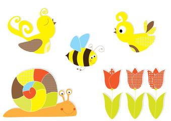 sping elements - vectors for children