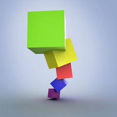 Colorful cubes 3D