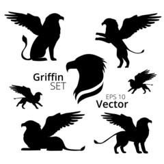 Griffin set vector, eps 10