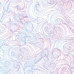 Abstract doodle waves background