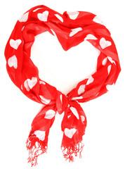 Valentine heart scarf