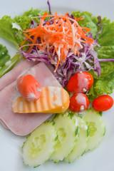 salad with sausage and ham