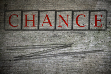 chance written on a wall background