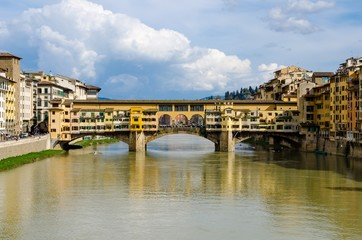 Ponte Vecchio in blue sky, Florence, Italy
