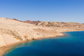 Mountains and sea. Ras Mohamed National Park, Sharm El Sheikh