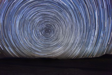 Night Exposure Star Trails of the Sky