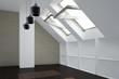 canvas print picture - Zimmer mit Fenster im Dachgeschoss