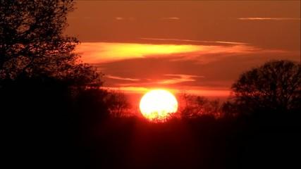 Sonnenuntergang in der natur, wolken, rot