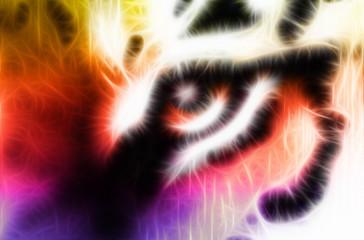 Tiger eye fractal ornamental background
