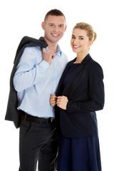 Successful business couple