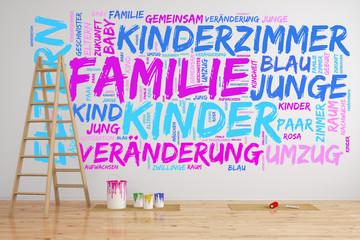 Konzept zu Familie und Kinderzimmer