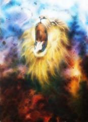 Lion Feactal in coolor space