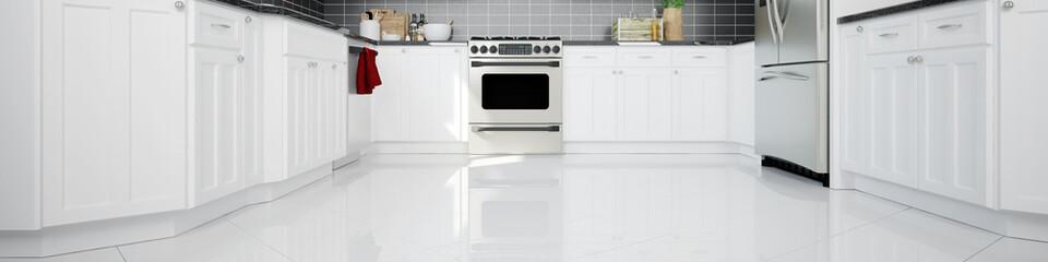 Panorama einer Küche mit Backofen