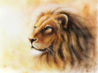 lion color painting