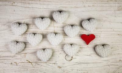 Ein rotes Herz zum Valentinstag oder Muttertag