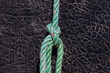 the knot of rope