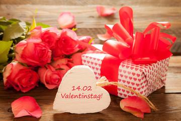 Valentinstag mit Geschenk