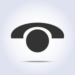 Phone retro icon in vector