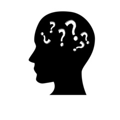 Black silhouette symbolizing Confusion