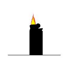 lighter flame color vector