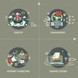 Startup, management, internet marketing, graphic design