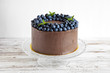 blueberry chocolate cake - 76653516