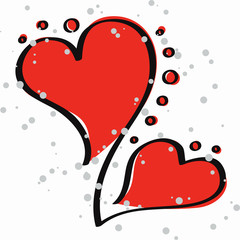 valentine hearts - vector illustration