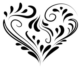 heart shape decoration - vector illustration