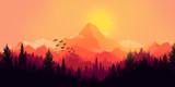 Flat landscape - 76654160
