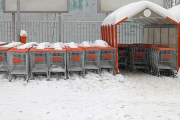 Snow shopping carts