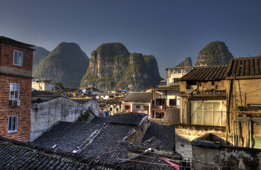 the town of yangshuo guangxi province