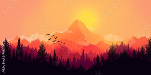 Leinwandbild Motiv Flat landscape